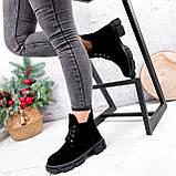 Ботинки женские Ryan черные Зима 2658, фото 4