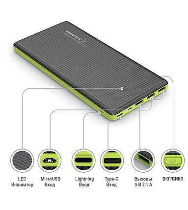 Портативная батарея Pineng PN-951 Power bank 10000mAh Black, фото 2