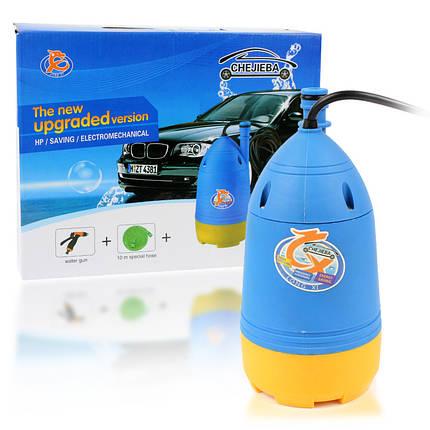 Портативная автомобильная мойка от прикуривателя с насосом, шлангом и распылителем Chejieba 149514, фото 2