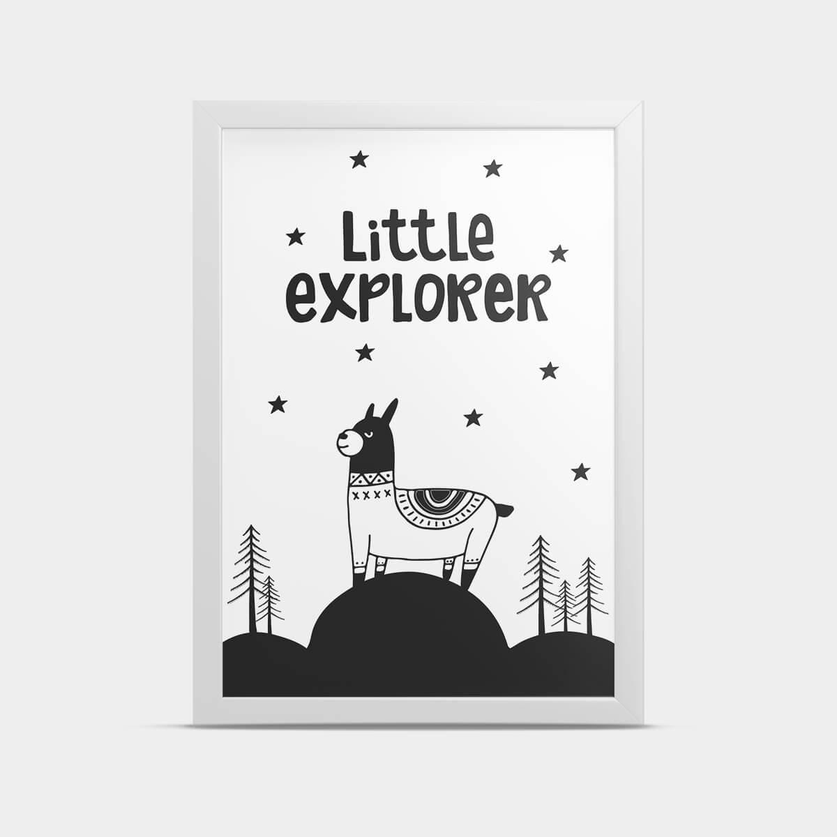 Постер интерьерный Лама 20*30 см
