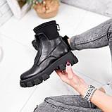 Ботинки женские Sharon черные ДЕМИ 2673, фото 4