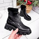 Ботинки женские Sharon черные ДЕМИ 2673, фото 6