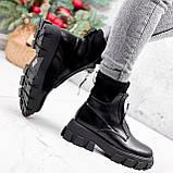 Ботинки женские Sharon черные ДЕМИ 2673, фото 7