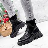 Ботинки женские Sharon черные ДЕМИ 2673, фото 8