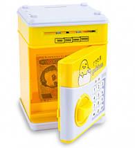 Копилка Сейф Ukc электронная с кодовым замком для бумажных денег и монет 181549, фото 3