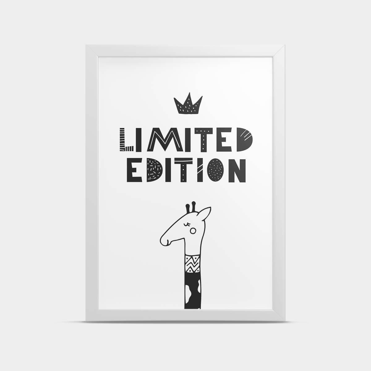 Постер интерьерный Жираф 20*30 см
