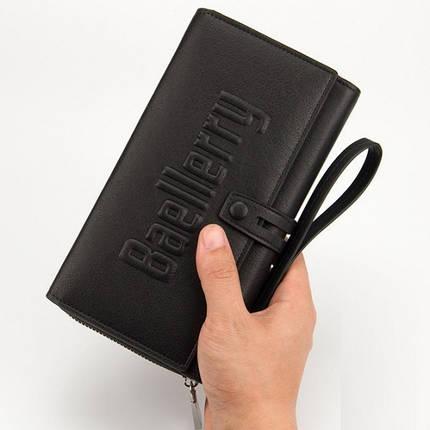 Мужской клатч портмоне Baellerry Guero Черный 130209, фото 2