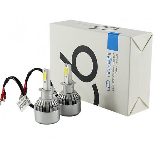 Комплект Led ламп светодиодные для фар автомобиля C6 H3 181240