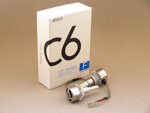 Комплект Led ламп светодиодные для фар автомобиля C6 H3 181240, фото 2
