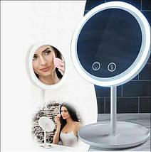 Зеркало настольное косметическое с подсветкой и встроенным вентилятором NuBrilliance Beauty Breeze Mirror, фото 3