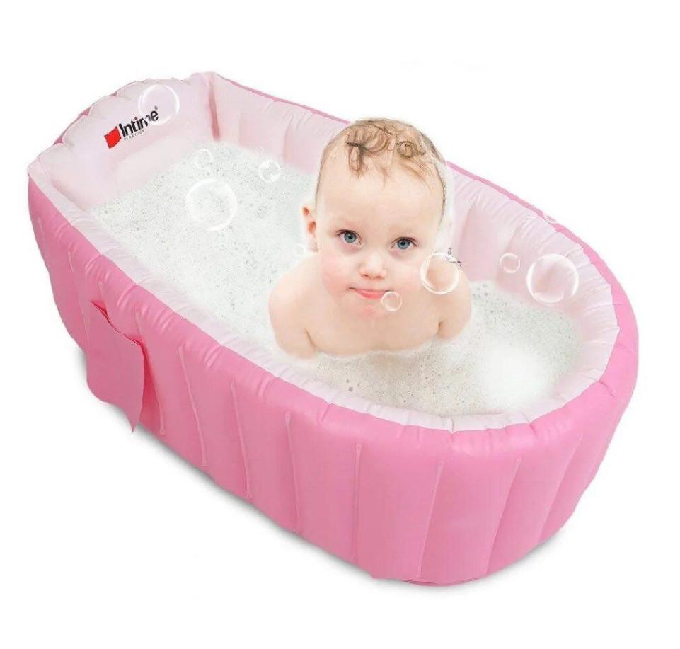 Надувная ванночка Intime Baby Bath Tub Розовая 181881