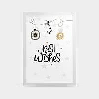 Постер интерьерный Best wishes 20*30 см