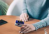 Пульсоксиметр на Палец Pulse Oximeter Lk 88 с Поворотным OLED-Дисплеем, фото 5