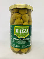 Оливки зеленые фаршированные анчоусами Mazza 316 г Италия