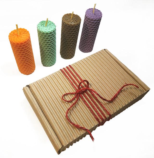 Набір свічок з кольорової вощини