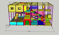 """Детский 3х уровневый   лабиринт """"Терем"""" с домиком и  с батутом"""