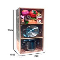 Посуд YH2018-2F каструля, друшляк, продукти (на липучці), кор., 18-38-10 см.