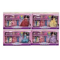 Лялька з вбранням 2058-1-2-3-4 сукні, сумочки, аксесуари, 4 види, кор., 58-32-6 см.