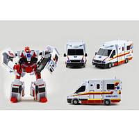 Трансформер JQ6118-2 робот+швидка допомога, кор., 28-35-12,5см.