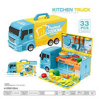 Кухня 8761 плита, продукти, склад. в машину, 33 пред., муз., світло, бат., кор., 42,5-21-17 см.