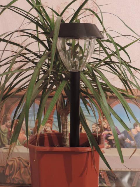 Светильник (садовый) на солнечной батарее. Усиленный светодиод., фото 1