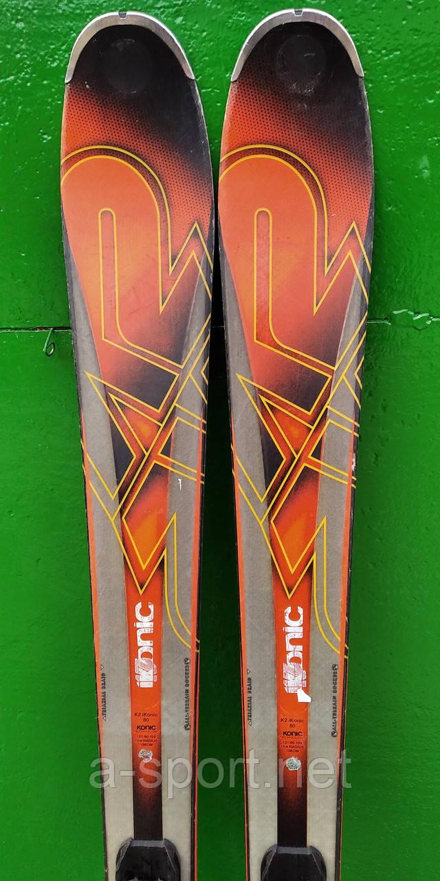 Гірські лижі бу K2 iKonic 80 160 см універсал 2017р