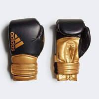 Боксерские перчатки Hybrid 300. Цвет черный золото серебро. р. 20 ун (ADIH300)