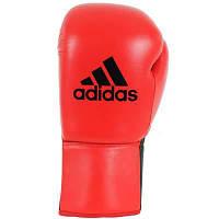 Профессиональные кожаные боксерские перчатки Adidas Kombat Boxing Glove черного цвета р. 8 ун (ADIBC04)
