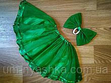 Юбка зеленая фатиновая пышная зеленая юбочка на 2-8 лет Зеленая