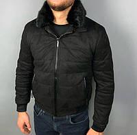 Мужская брендовая куртка Stefano Ricci P0532 черная