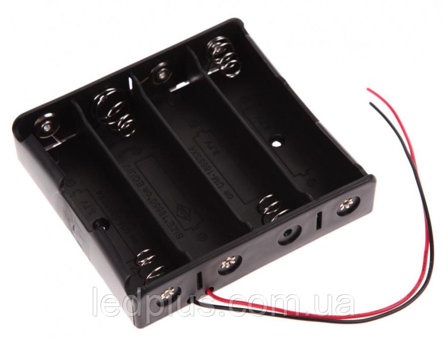 Отсек для 4-х аккумуляторов 18650 с проводами