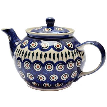 Заварочный керамический чайник 1L Перо Павлина, фото 2