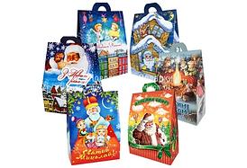 Пакет бумажный для фасовки подарков 300-500 грамм 100 шт. / Уп