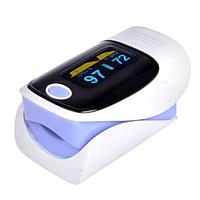 Пульсометр-оксиметр пульсоксиметр на палец Jziki Фиолетовый