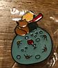 Брошь брошка маленький принц и лис роза металл круглый пин Сент-Экзюпери, фото 3