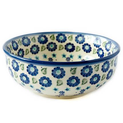 Керамическая пиала для супа, салатник 17 Blue Wind, фото 2