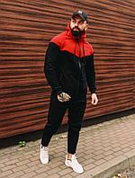 Мужской зимний спортивный костюм на флисе без бренда, двухцветный