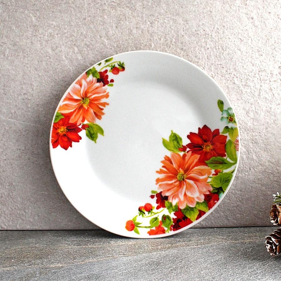 """Тарілка плоска обідня з квітами 20.5 см 8"""" Айстра """"(4396)"""
