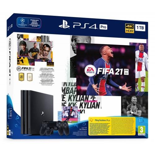 Игровая приставка Sony PlayStation 4 PRO 1Tb (PS4 Pro) Black +DualShock V2+ FIFA21