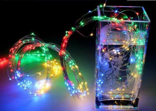 """Гирлянда """"Конский хвост"""" пучок 200 LED: 20 нитей по 1 метра,, цвет Multicolor 8 режимов"""