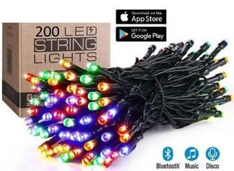 Гірлянда Розумна/Smart Led 200l RGB, довжина 18м, колір світіння Мульти колір, 20 режимів