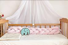 Бортик- косичка 120 см в кроватку , люльку