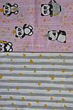 Детское сменное постельное белье в кроватку с простынкой на резинке, 3 предмета, разные расцветки, фото 9