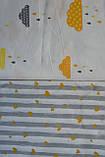 Детское сменное постельное белье в кроватку с простынкой на резинке, 3 предмета, разные расцветки, фото 10
