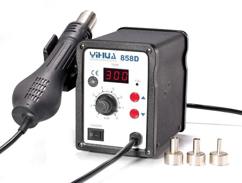 YIHUA-858D термовоздушная паяльная станция с дисплеем