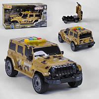 Машина-гараж военная с военным и тремя машинками военной техники со светом и звуком SKL11-278418