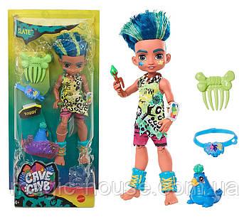 Лялька хлопчик Слейт і вихованець Тэгги Печерний клуб 25 см Cave Club Mattel