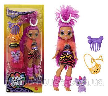 Лялька Роралея і тигреня Ферелл Печерний клуб 25 см Cave Club Roaralai Doll Mattel