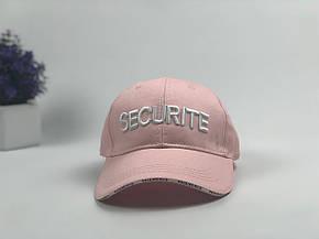 Кепка Бейсболка Мужская Женская Vetements с надписью Securite Розовая, фото 2