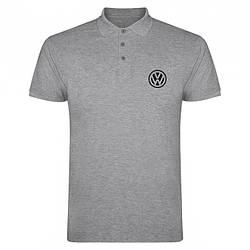 Поло Фольксваген (VW) мужское, тенниска Фольксваген, мужская футболка Фольксваген, Турецкий хлопок, копия